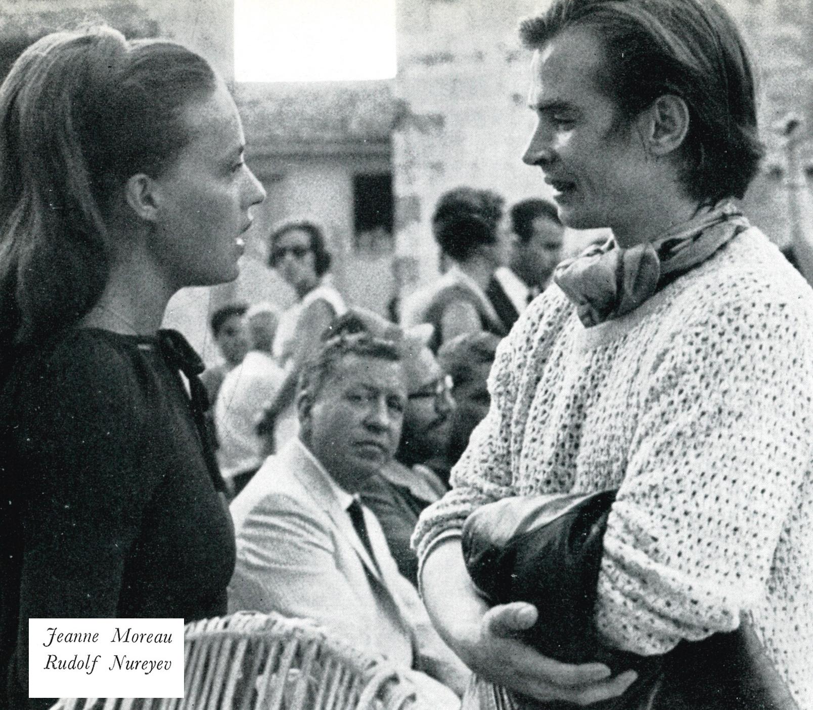 Jeanne Moreau e Rudolf Nureyev