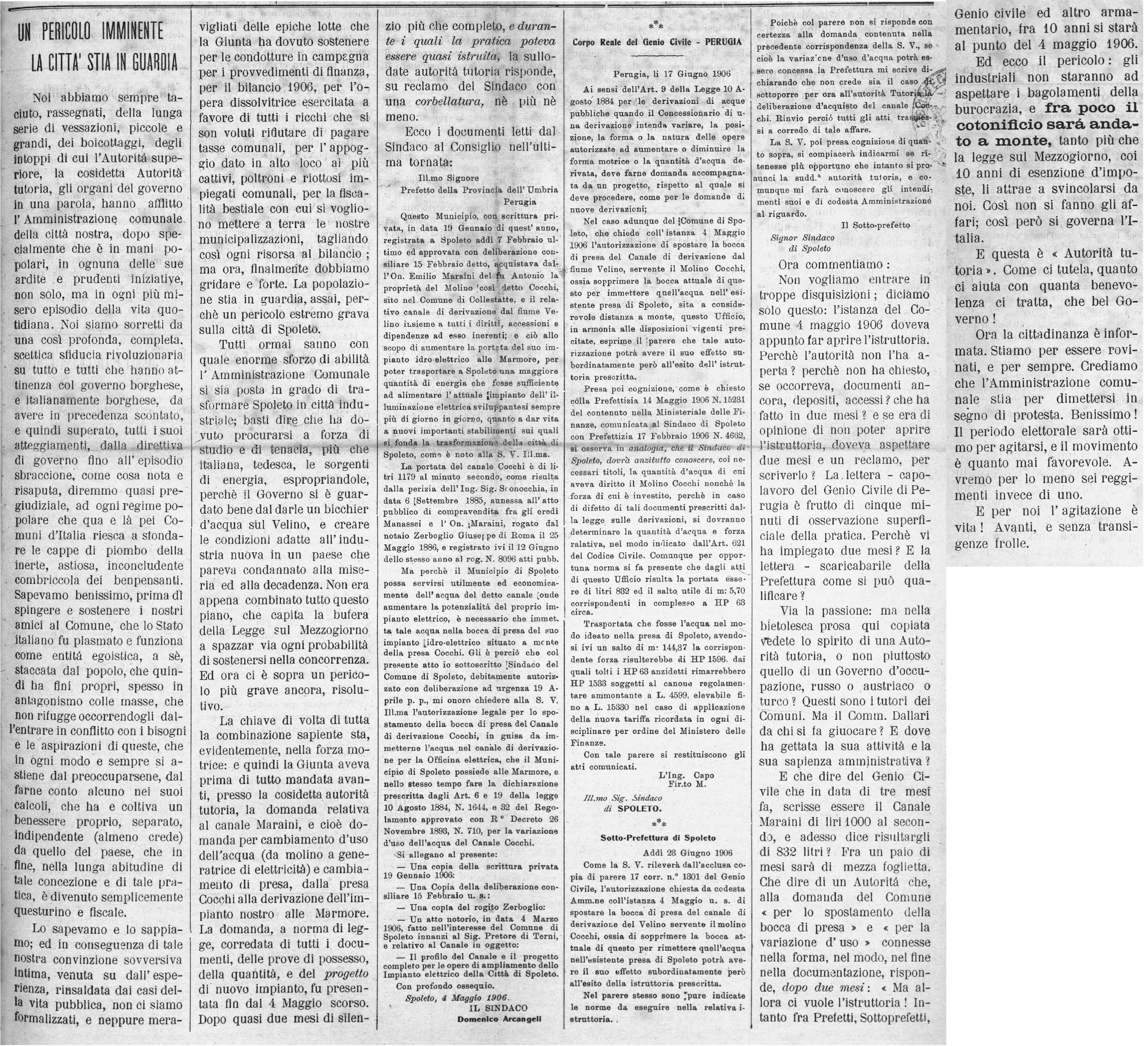 La Giovane Umbria | 1 luglio 1906