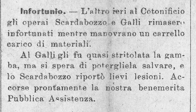 La Giovane Umbria   5 gennaio 1908