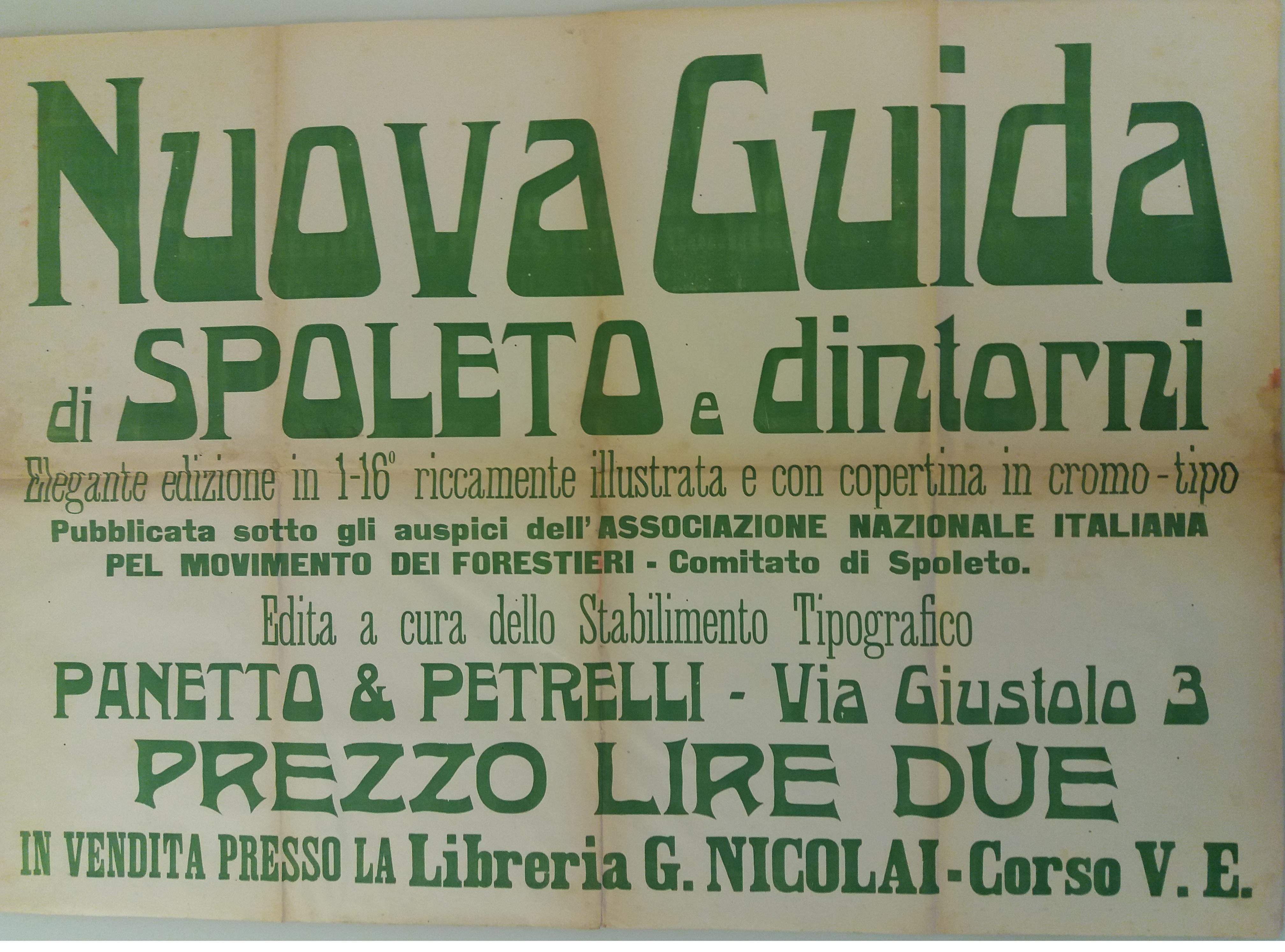 Manifesto per Guida di Spoleto e dintorni