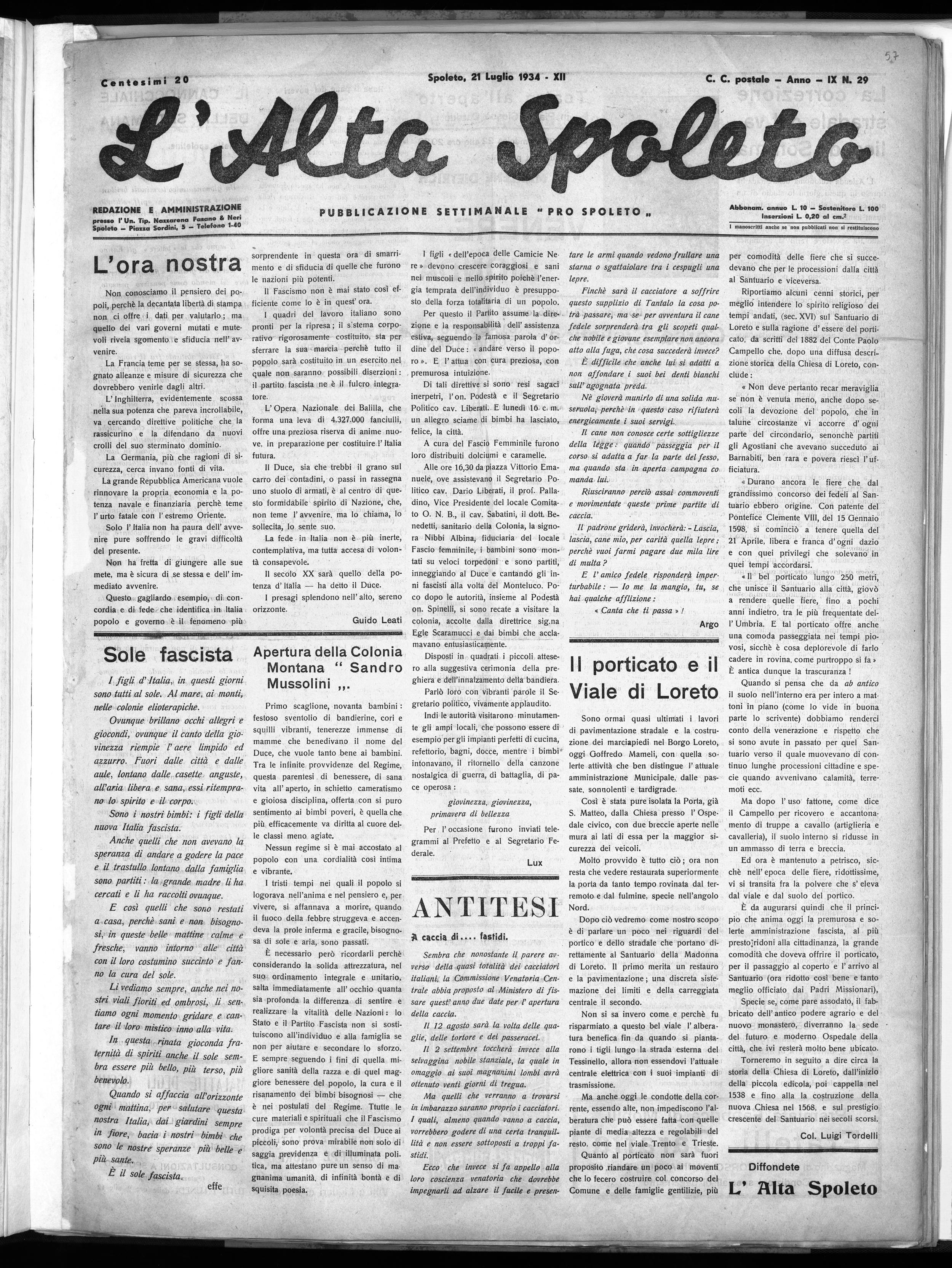 Alta Spoleto   21.7.1934