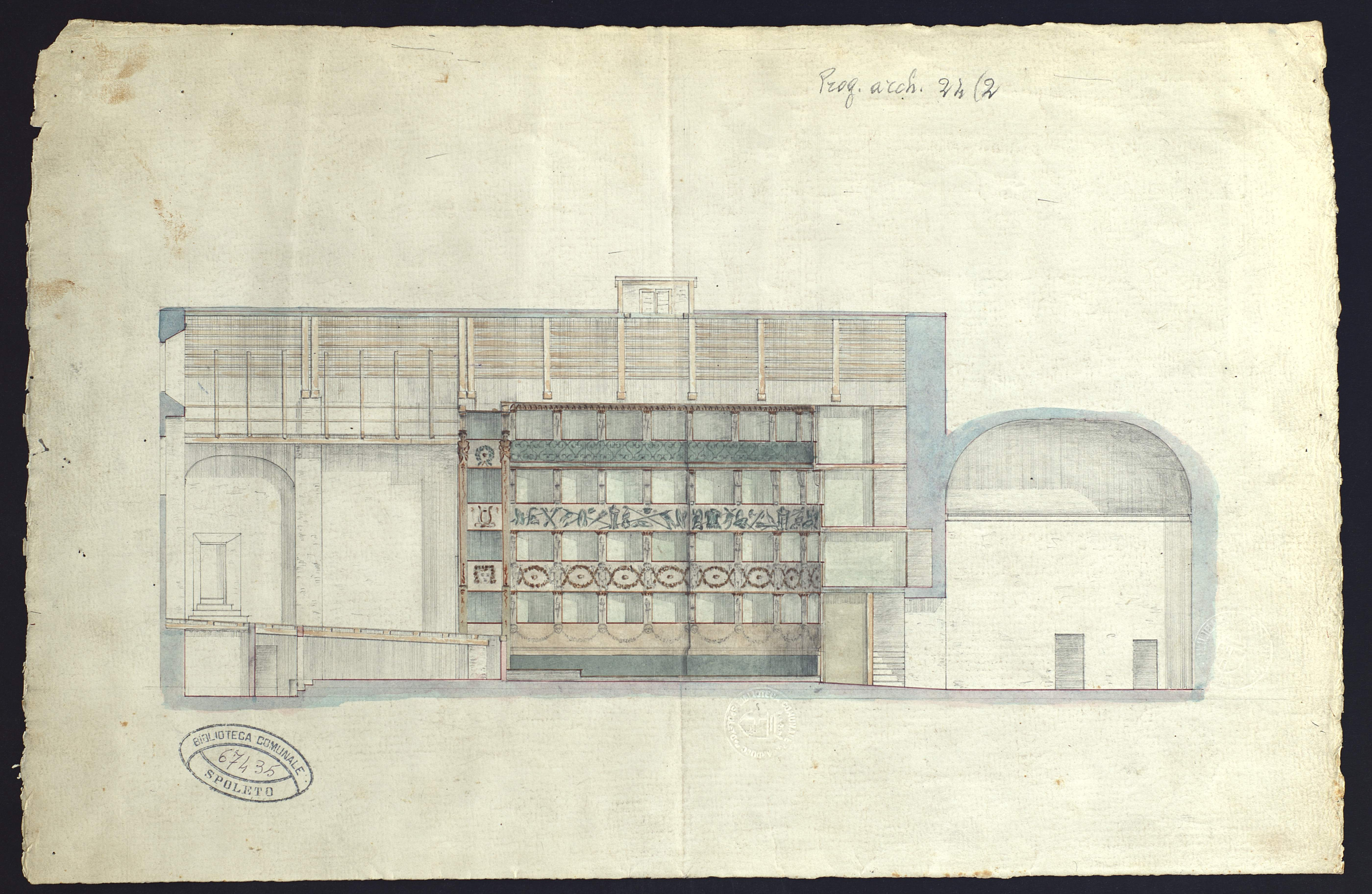 Teatro Caio Melisso | Disegni di Giovanni Montiroli
