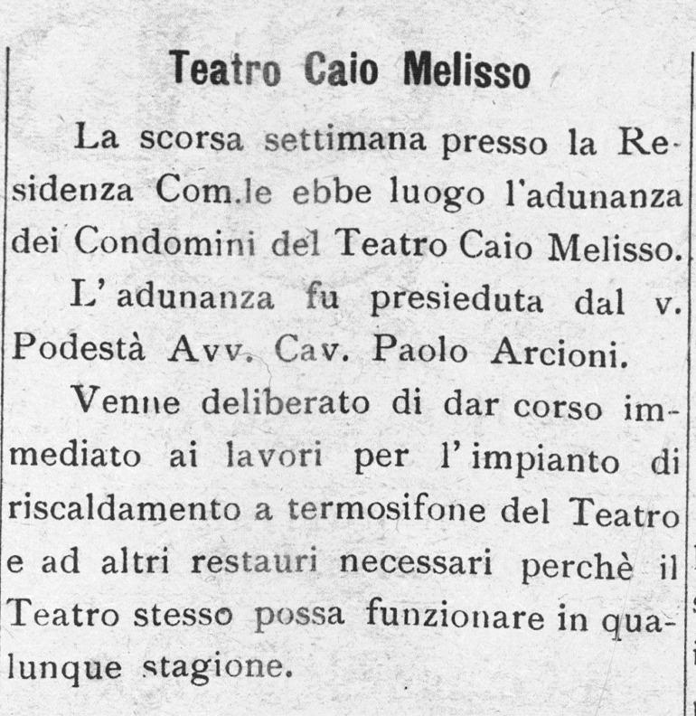 L'Alta Spoleto | 15 dicembre 1928