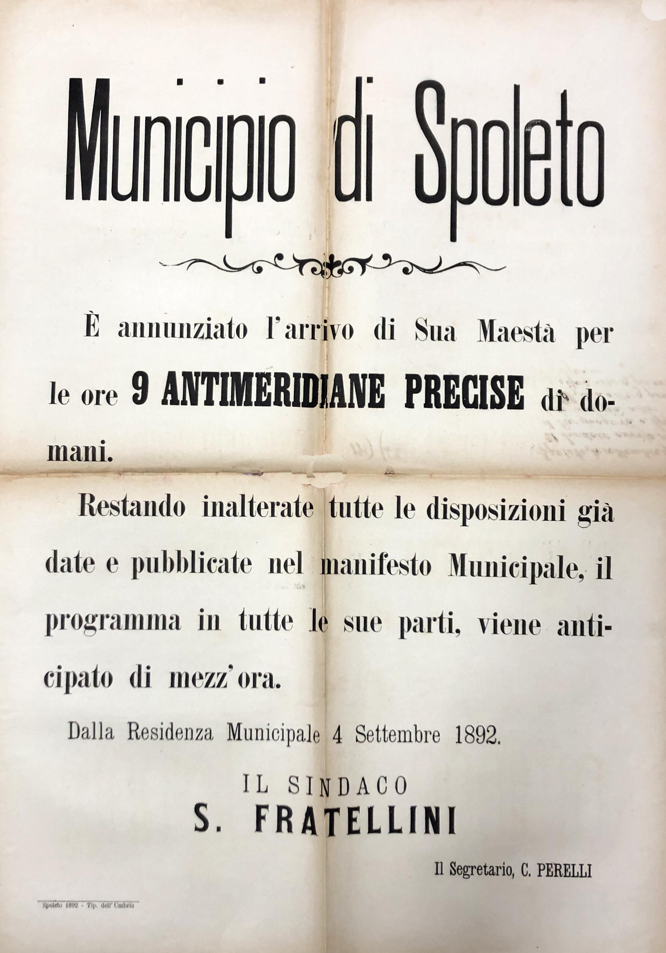 4 settembre 1892   Nuovo orario