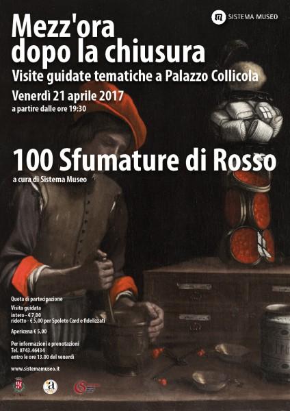 <!--:it-->Mezz'ora dopo la chiusura - 100 SFUMATURE DI ROSSO<!--:--><!--:en-->Mezz'ora dopo la chiusura - 100 SHADES OF RED<!--:--> @ Palazzo Collicola Arti Visive | Spoleto | Umbria | Italia