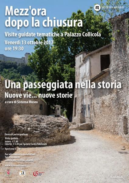 <!--:it-->Mezz'ora dopo la chiusura - UNA PASSEGGIATA NELLA STORIA<!--:--><!--:en-->Mezz'ora dopo la chiusura - A WALK THROUGH HISTORY<!--:--> @ Palazzo Collicola Arti Visive | Spoleto | Umbria | Italia