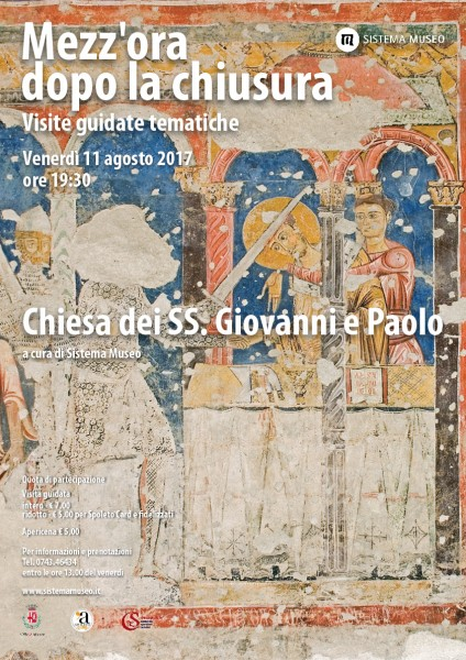<!--:it-->Mezz'ora dopo la chiusura - Chiesa dei SS. Giovanni e Paolo<!--:--><!--:en-->Mezz'ora dopo la chiusura - Church of Saints John and Paul<!--:--> @ Palazzo Collicola Arti Visive | Spoleto | Umbria | Italia