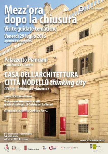 <!--:it-->Mezz'ora dopo la chiusura - CITTA' MODELLO thinking city<!--:--> @ Palazzetto Pianciani | Spoleto | Umbria | Italia
