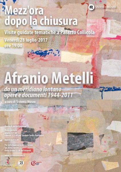 <!--:it-->Mezz'ora dopo la chiusura - AFRANIO METELLI<!--:--><!--:en-->Mezz'ora dopo la chiusura - AFRANIO METELLI<!--:--> @ Palazzo Collicola Arti Visive | Spoleto | Umbria | Italia