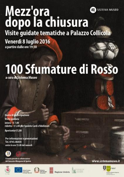 <!--:it-->Mezz'ora dopo la chiusura - 100 SFUMATURE DI ROSSO<!--:--> @ Palazzo Collicola Arti Visive | Spoleto | Umbria | Italia