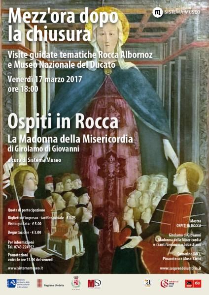 <!--:it-->Mezz'ora dopo la chiusura - LA MADONNA DELLA MISERICORDIA di Girolamo di Giovanni<!--:--> @ Rocca Albornoziana | Spoleto | Umbria | Italia