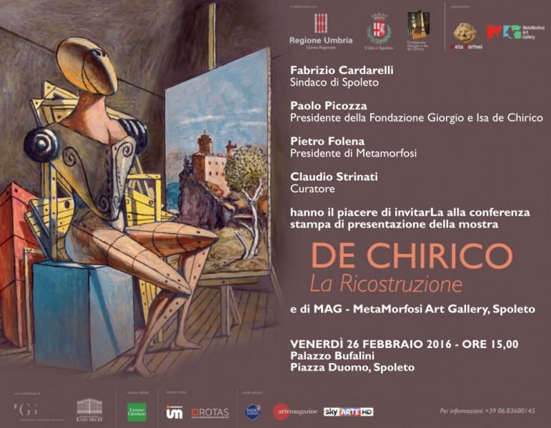 <!--:it-->DE CHIRICO: La Ricostruzione<!--:--><!--:en-->DE CHIRICO: The Reconstruction<!--:--> @ Palazzo Bufalini | Spoleto | Umbria | Italia