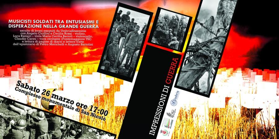 <!--:it-->UmbriaEnsemble: Tesori Nascosti. L'altra faccia del Novecento - Impressioni di Guerra<!--:--><!--:en-->UmbriaEnsemble: Hidden Treasures. The other side of XXth century - Impressions of War<!--:--> @ Complesso Monumentale di San Nicolò | Spoleto | Umbria | Italia