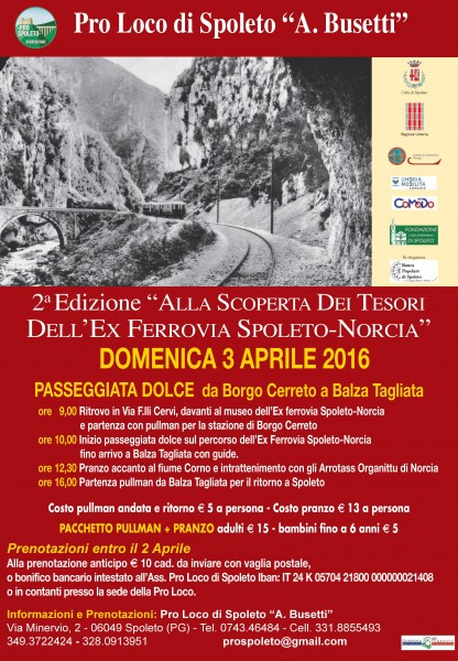 <!--:it-->Alla scoperta dei tesori dell'ex ferrovia Spoleto-Norcia<!--:--> @ Ex ferrovia Spoleto-Norcia