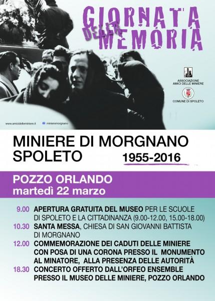 <!--:it-->Giornata della memoria - Commemorazione della Tragedia delle Miniere di Morgnano<!--:--> @ Museo delle Miniere di Morgnano | Spoleto | Umbria | Italia