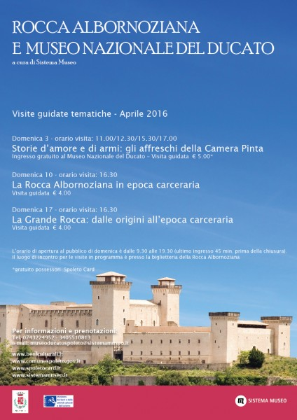 <!--:it-->Visite guidate tematiche alla Rocca Albornoziana e al Museo Nazionale del Ducato<!--:--> @ Rocca Albornoziana di Spoleto | Spoleto | Umbria | Italia