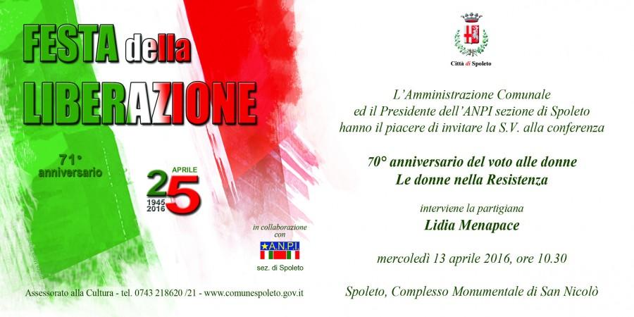<!--:it-->Le donne nella Resistenza - conferenza<!--:--> @ Complesso Monumentale di San Nicolò | Spoleto | Umbria | Italia