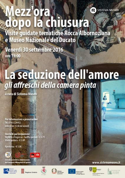 <!--:it-->Mezz'ora dopo la chiusura - LA SEDUZIONE DELL'AMORE<!--:--> @ Rocca Albornoziana  | Spoleto | Umbria | Italia