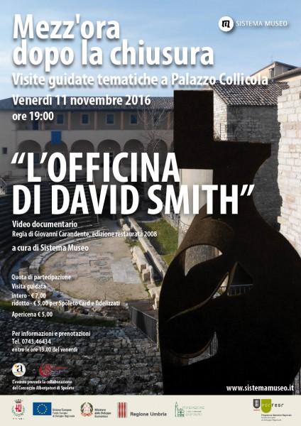 <!--:it-->Mezz'ora dopo la chiusura - L'OFFICINA DI DAVID SMITH<!--:--> @ Palazzo Collicola Arti Visiva | Spoleto | Umbria | Italia