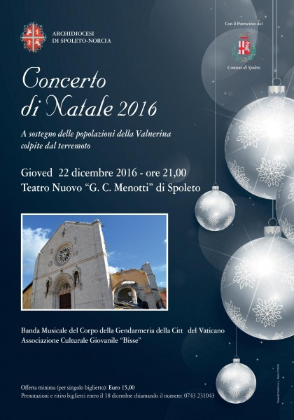 <!--:it-->Concerto di Natale<!--:--> @ Teatro Nuovo Gian Carlo Menotti | Spoleto | Umbria | Italia
