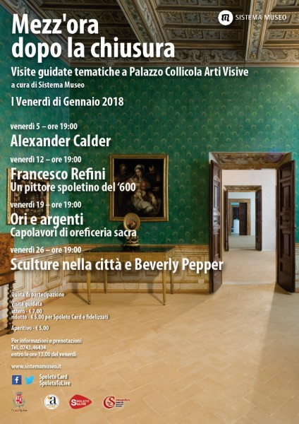 <!--:it-->Mezz'ora dopo la chiusura - SCULTURE NELLA CITTÀ E BEVERLY PEPPER<!--:--><!--:en-->Mezz'ora dopo la chiusura - SCULPTURES IN THE CITY AND BEVERLY PEPPER<!--:--> @ Palazzo Collicola Arti Visive | Spoleto | Umbria | Italia