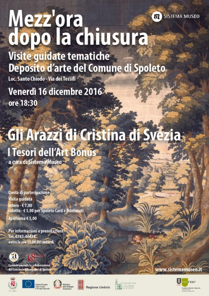 <!--:it-->Mezz'ora dopo la chiusura - GLI ARAZZI DI CRISTINA DI SVEZIA<!--:--> @ Deposito Beni Culturali di Spoleto | Spoleto | Italia