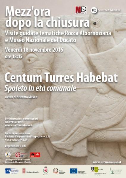 <!--:it-->Mezz'ora dopo la chiusura - CENTUM TURRES HABEBAT - Spoleto in età comunale<!--:--> @ Rocca Albornoziana - Museo Nazionale del Ducato | Spoleto | Umbria | Italia