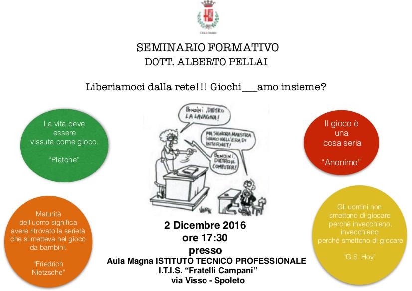 <!--:it-->Liberiamoci dalla rete!!! Giochi_amo insieme?<!--:--> @ Istituto Tecnico Professionale di Spoleto | Spoleto | Umbria | Italia