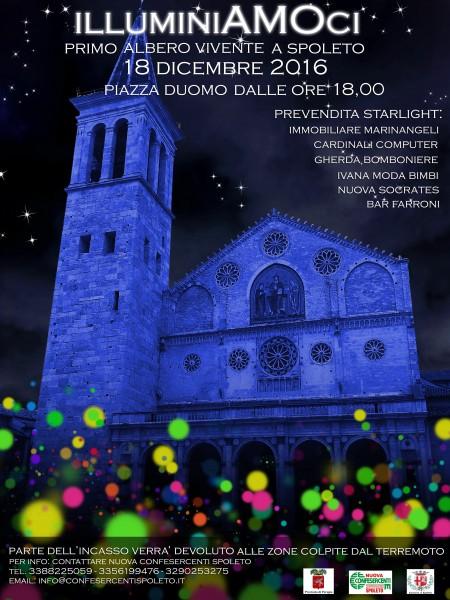 <!--:it-->illuminiAMOci - Primo albero vivente a Spoleto<!--:--> @ Piazza Duomo | Spoleto | Umbria | Italia