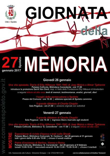 <!--:it-->Giornata della Memoria<!--:--> @ Spoleto