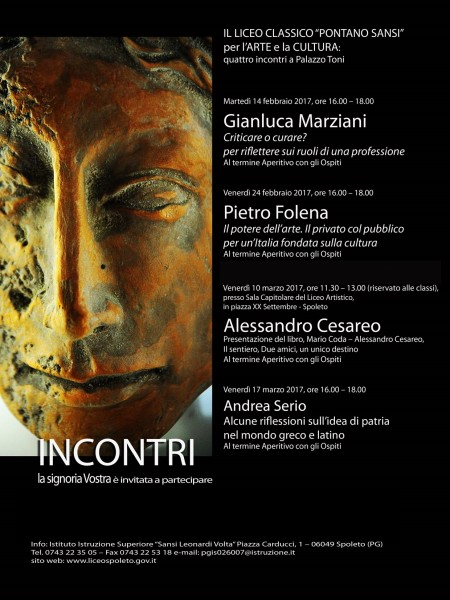<!--:it-->Incontri a Palazzo Toni<!--:--> @ Liceo Classico Pontani Sansi - Palazzo Toni | Spoleto | Umbria | Italia