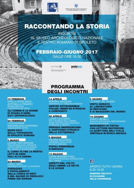 <!--:it-->RACCONTANDO LA STORIA - Incontri al Museo Archeologico e Teatro Romano di Spoleto<!--:--><!--:en-->TELLING HISTORY - Lectures at Spoleto Archeological Museum and Roman Theatre<!--:--> @ Museo Archeologico | Spoleto | Umbria | Italia