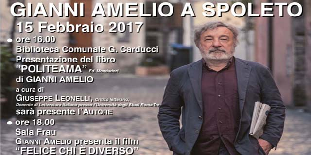 <!--:it-->Il regista Gianni Amelio a Spoleto<!--:--><!--:en-->Film director Gianni Amelio in Spoleto<!--:--> @ Biblioteca Comunale G. Carducci | Spoleto | Umbria | Italia