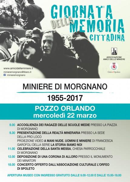 <!--:it-->Giornata della Memoria Cittadina - Miniere di Morgnano 1955-2017<!--:--> @ Pozzo Orlando | Spoleto | Umbria | Italia