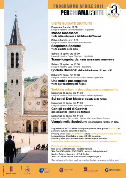 <!--:it-->Visite guidate tematiche e Trekking urbani Spoleto Card<!--:--><!--:en-->Thematic guided tours and Urban trekking included in the Spoleto Card<!--:--> @ Palazzo Collicola Arti Visive | Spoleto | Umbria | Italia