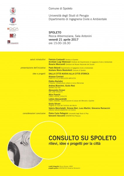 <!--:it-->CONSULTO SU SPOLETO. Rilievi, idee e progetti per la città<!--:--><!--:en-->CONSULTATION ON SPOLETO. Surveys, ideas and projects for the city.<!--:--> @ Rocca Albornoziana | Spoleto | Umbria | Italia