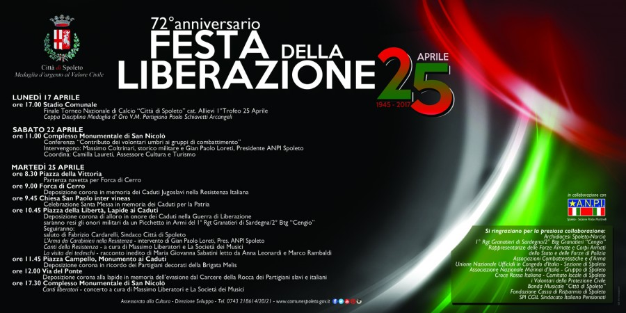<!--:it-->Celebrazioni per il 25 aprile<!--:--><!--:en-->Celebrations for the Liberation Day<!--:--> @ Stadio Comunale | Spoleto | Umbria | Italia