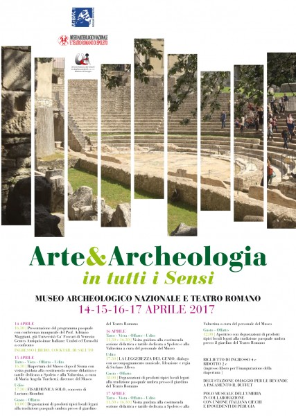 <!--:it-->Arte&Archeologia in tutti i sensi<!--:--><!--:en-->Art&Archeology in all senses<!--:--> @ Museo Archeologico - Teatro Romano | Spoleto | Umbria | Italia