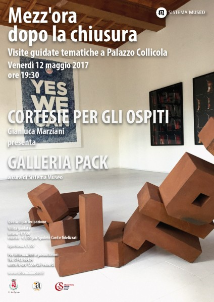 <!--:it-->Mezz'ora dopo la chiusura - CORTESIE PER GLI OSPITI Gianluca Marziani presenta GALLERIA PACK<!--:--><!--:en-->Mezz'ora dopo la chiusura - COURTESIES FOR GUESTS Gianluca Marziani presents GALLERIA PACK<!--:--> @ Palazzo Collicola Arti Visive | Spoleto | Umbria | Italia