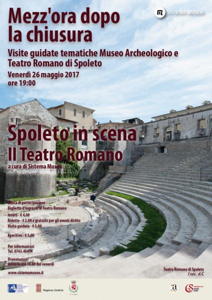 <!--:it-->Mezz'ora dopo la chiusura - SPOLETO IN SCENA - Il Teatro Romano<!--:--><!--:en-->Mezz'ora dopo la chiusura - SPOLETO ON STAGE - The Roman Theatre<!--:--> @ Teatro Romano  | Spoleto | Umbria | Italia