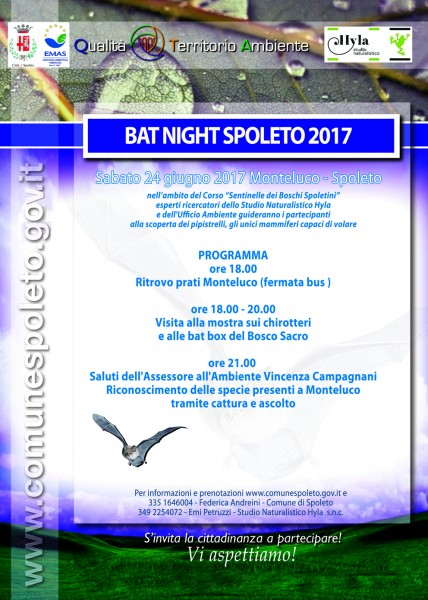<!--:it-->BAT NIGHT SPOLETO 2017<!--:--> @ Monteluco | Monteluco | Umbria | Italia
