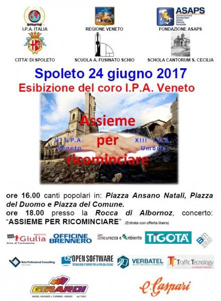 <!--:it-->Concerto del coro dell'IPA a favore delle popolazioni colpite dal terremoto <!--:--> @ Spoleto