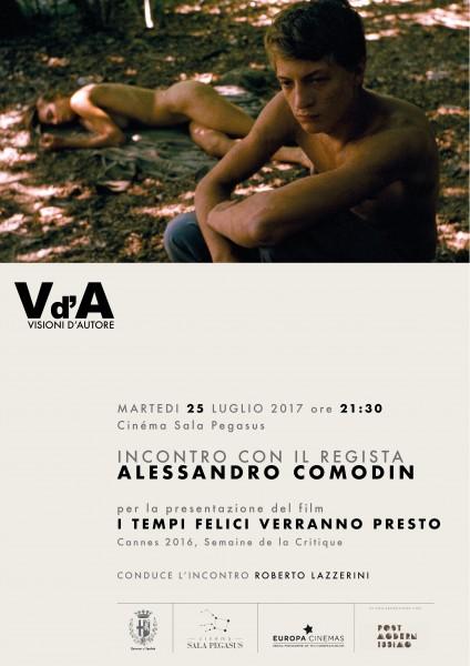 <!--:it-->VISIONI D'AUTORE - Alessandro Comodin parla del suo film 'I Tempi Felici Verranno Presto'<!--:--><!--:en-->VISIONI D'AUTORE - Alessandro Comodin presents his latest movie<!--:--> @ Cinéma Sala Pegasus | Spoleto | Umbria | Italia