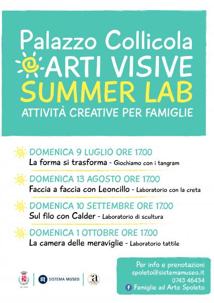<!--:it-->Palazzo Collicola Arti Visive SUMMER LAB 2017<!--:--> @ PALAZZO COLLICOLA | Spoleto | Umbria | Italia