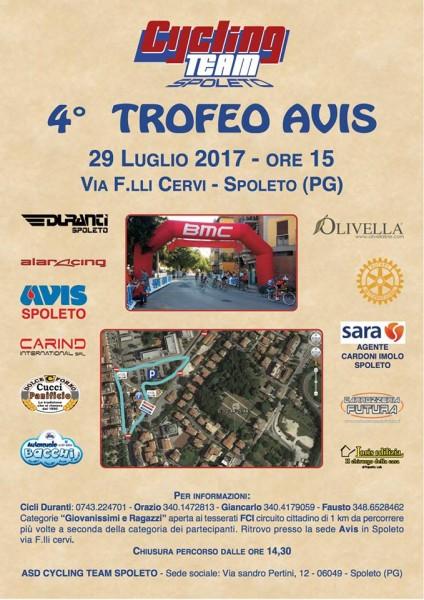<!--:it-->Trofeo AVIS 2017 - Manifestazione ciclistica<!--:--> @ Spoleto