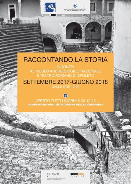 <!--:it-->RACCONTANDO LA STORIA - Incontri al Museo Archeologico e Teatro Romano di Spoleto<!--:--><!--:en-->RECOUNTING HISTORY - Meetings at the Spoleto Archaeological Museum and Roman Theatre<!--:--> @ Museo Archeologico Nazionale e Teatro Romano | Spoleto | Umbria | Italia