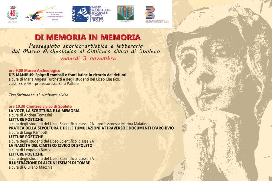 <!--:it-->Di Memoria in Memoria<!--:--> @ Museo Archeologico Nazionale   Spoleto   Umbria   Italia