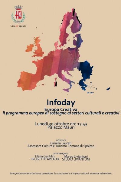<!--:it-->Infoday: Europa Creativa. Il programma europeo di sostegno ai settori culturali e creativi<!--:--> @ Palazzo Mauri, Sala Convegni II piano   Spoleto   Umbria   Italia