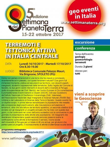 <!--:it-->TERREMOTI E TETTONICA ATTIVA IN ITALIA CENTRALE Settimana del Pianeta Terra – 5a edizione<!--:--> @ Biblioteca Comunale Palazzo Mauri | Spoleto | Umbria | Italia