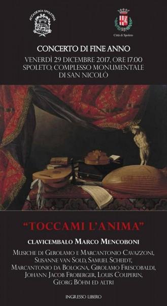 <!--:it-->CONCERTO DI FINE ANNO - Marco Mencoboni<!--:--><!--:en-->END-OF-THE-YEAR CONCERT - Marco Mencoboni<!--:--> @ Sala I piano del Complesso Monumentale di San Nicolò | Spoleto | Umbria | Italia
